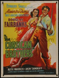 8a0290 CORSICAN BROTHERS Indian R1960s different art of Douglas Fairbanks Jr. & Warrick by Pinto!