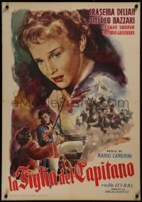 8a0313 CAPTAIN'S DAUGHTER Italian 1sh R1956 great Averardo Ciriello art of top cast, battle!