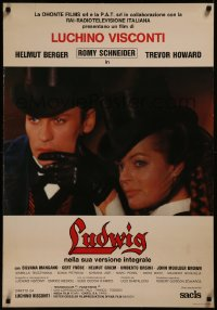 8a0317 LUDWIG Italian 1sh R1980s Luchino Visconti, Helmut Berger as the Mad King of Bavaria!