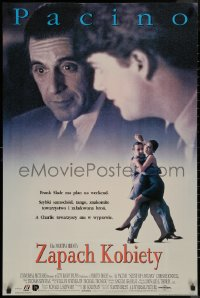 8a0296 SCENT OF A WOMAN Polish 25x37 1993 great image of blind Al Pacino talking with Chris O'Donnell!