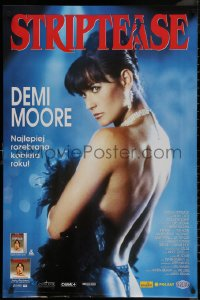 8a0297 STRIPTEASE Polish 25x37 1996 sexy stripper Demi Moore wearing thong and little else!