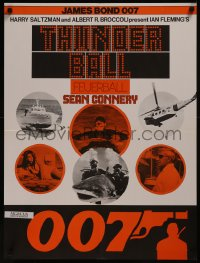 8a0301 THUNDERBALL Swiss R1970s art of Sean Connery as secret agent James Bond 007!