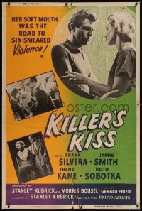 8d0008 KILLER'S KISS 40x60 1955 early Stanley Kubrick noir in New York's Clip Joint Jungle, rare!