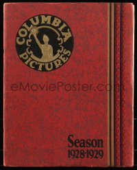 8d0123 COLUMBIA PICTURES 1928-29 campaign book 1928 full-color ads for upcoming movies, rare!