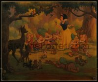 8d0016 SNOW WHITE & THE SEVEN DWARFS 20x24 commercial poster 1960s Good Friends All, cool art!