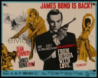 8d0012 FROM RUSSIA WITH LOVE English 1/2sh 1964 Fratini & Pulford art of Connery, incredibly rare!