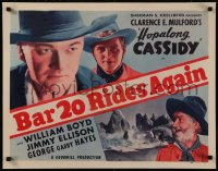 8d0027 BAR 20 RIDES AGAIN 1/2sh R1949 William Boyd as Hopalong Cassidy, Gabby Hayes, very rare!
