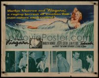 8d0089 NIAGARA 1/2sh 1953 classic art of giant sexy Marilyn Monroe on famous waterfall + photos!