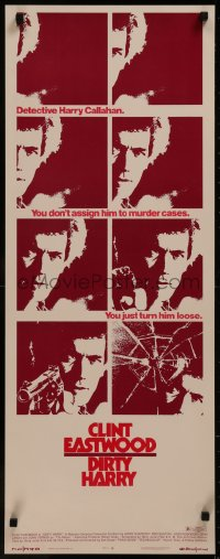 8d0022 DIRTY HARRY insert 1971 cool montage of images of Clint Eastwood in Don Siegel crime classic!