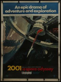 8d0001 2001: A SPACE ODYSSEY Cinerama 30x40 special acetate poster 1968 space wheel, rare & different!