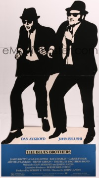 8d0015 BLUES BROTHERS die-cut 40x75 standee 1980 image of John Belushi & Dan Aykroyd, very rare!