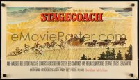 8d0099 STAGECOACH standees + poster 1966 art portraits of ten top stars by Norman Rockwell, rare!