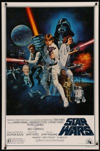 8d0072 STAR WARS style C int'l 1sh 1977 George Lucas sci-fi epic, art by Tom William Chantrell!