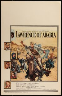8d0109 LAWRENCE OF ARABIA pre-awards WC 1963 David Lean, best Terpning art of Peter O'Toole on camel!