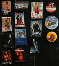 8h0019 LOT OF 14 MOVIE PROMO PIN-BACK BUTTONS 1990s-2000s a variety of great movie images!