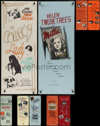 8h0004 LOT OF 13 LOCAL THEATER HOMEMADE INSERTS 1970s cool different poster images!