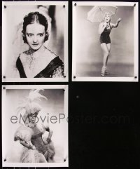 8h0015 LOT OF 3 13X16 REPRO PHOTOS 2000s Bette Davis in Jezebel & two Betty Hutton portraits!