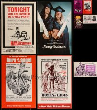8h0013 LOT OF 9 UNCUT SEXPLOITATION PRESSBOOKS 1960s-1970s advertising for several sexy movies!