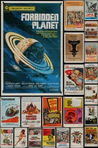 8h0034 LOT OF 50 FOLDED ONE-SHEETS 1950s-1970s great images from a variety of different movies!