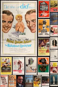 8h0032 LOT OF 52 FOLDED ONE-SHEETS 1950s-1990s great images from a variety of different movies!
