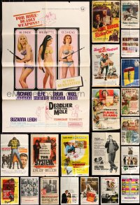 8h0028 LOT OF 63 FOLDED ONE-SHEETS 1950s-1970s great images from a variety of different movies!
