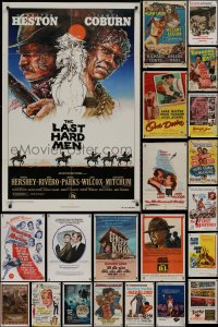 8h0039 LOT OF 37 FOLDED ONE-SHEETS 1950s-1970s great images from a variety of different movies!
