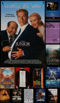 8h0562 LOT OF 16 UNFOLDED MOSTLY DOUBLE-SIDED 27X40 ONE-SHEETS 1990s-2000s cool movie images!