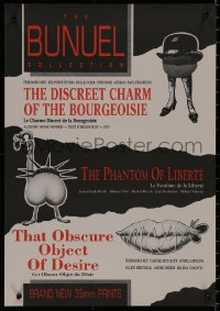 8j0014 DISCREET CHARM/PHANTOM OF LIBERTE/THAT OBSCURE Aust special poster 1990s Buneul triple-bill!