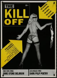 8j0015 KILL-OFF Aust special poster 1990 Thompson pulp thriller, full-length topless girl, rare!