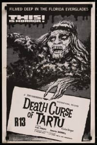 8j0004 DEATH CURSE OF TARTU New Zealand 1974 Native American Indian zombies in the Everglades!