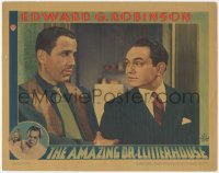 8k0759 AMAZING DR. CLITTERHOUSE LC 1938 best close up of Edward G. Robinson & Humphrey Bogart!