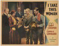 8k0985 I TAKE THIS WOMAN LC 1931 Gary Cooper & others watch Carole Lombard with deer head, rare!