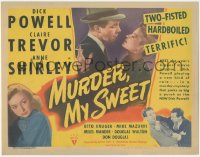 8k0653 MURDER, MY SWEET TC 1944 Dick Powell, Claire Trevor, Shirley, Mike Mazurki, Raymond Chandler!