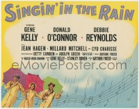 8k0688 SINGIN' IN THE RAIN TC 1952 Gene Kelly, Donald O'Connor & Debbie Reynolds, classic!