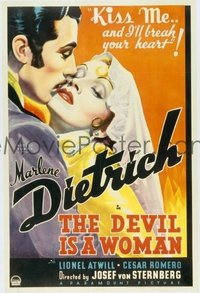 219 DEVIL IS A WOMAN ('35) linen 1sheet