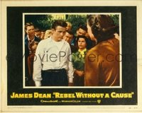 2060 REBEL WITHOUT A CAUSE lobby card #1 '55 Dean with teens!