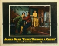 2064 REBEL WITHOUT A CAUSE lobby card #2 '55 Dean confronts dad!