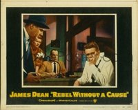 2063 REBEL WITHOUT A CAUSE lobby card #3 '55 Dean with Platt!