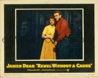 2059 REBEL WITHOUT A CAUSE lobby card #4 '55 Dean, Wood scared!