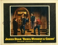 2062 REBEL WITHOUT A CAUSE lobby card #6 '55 Dean with punks!