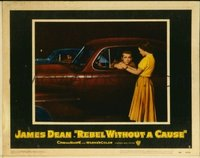 2058 REBEL WITHOUT A CAUSE lobby card #8 '55 Dean in chickie run!