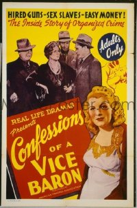 #026 CONFESSIONS OF A VICE BARON 1sh '42 sex!