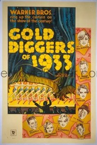 630 GOLD DIGGERS OF 1933 paperbacked 1sheet