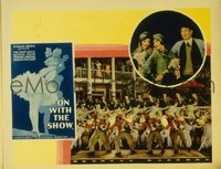 2014 ON WITH THE SHOW #6 lobby card '29 giant production number!