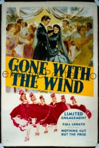 659 GONE WITH THE WIND linen 1sheet