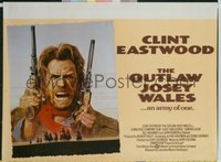 #259 OUTLAW JOSEY WALES Britishquad76Eastwood
