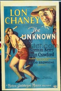 #186 UNKNOWN 1sh27 Lon Chaney, Joan Crawford