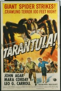 VHP7 307 TARANTULA one-sheet movie poster '55 classic gigantic spider image!