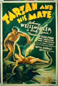 656 TARZAN & HIS MATE linen 1sheet