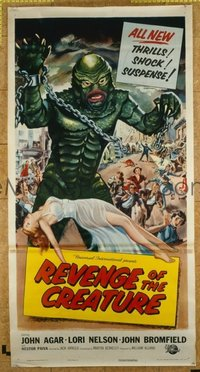 #277 REVENGE OF THE CREATURE three-sheet movie poster '55 classic image!!